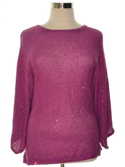 Melissa McCarthy Seven7 Plus Size 1X Purple Pullover Sweater