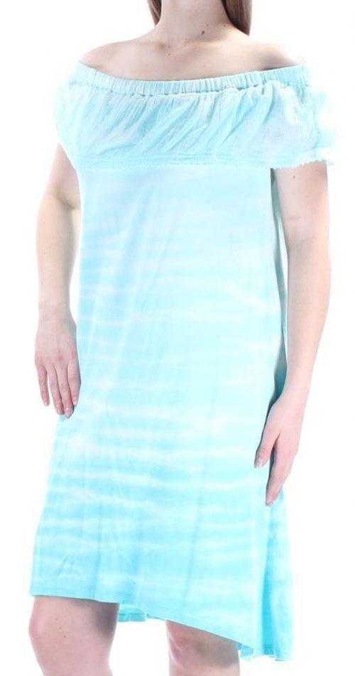 Style & Co. Women Size Medium M Light Blue Shift Dress