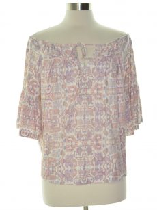 William Rast Women Size Large L Multi Off Shoulder Top