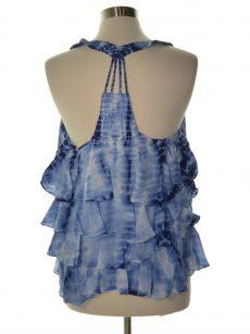 William Rast Women Size XL Multi Blue Tank Top