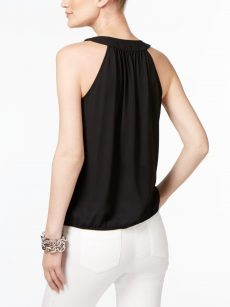 INC Petites Size PL Black Tank Top
