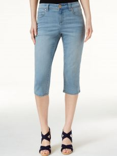 INC Women Size 4 Blue Cropped Jeans