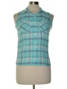 Style & Co. Petites Size PP Aqua Green Shirt Top
