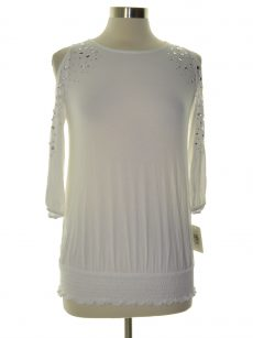 INC Petites Size PP Off White Pullover Top