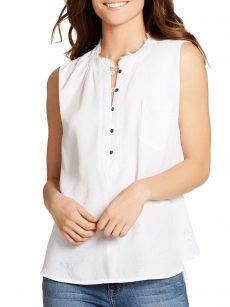 William Rast Women Size Medium M Off White Pullover Top