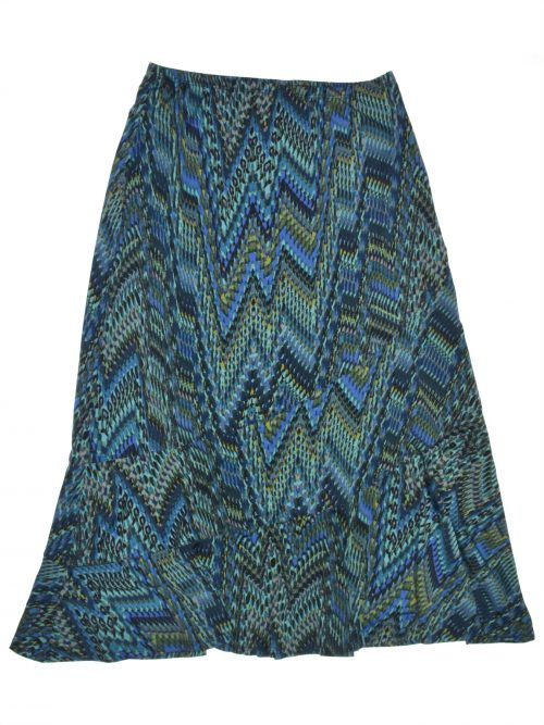 NY Collection Women Size XS Teal Flounce Skirt