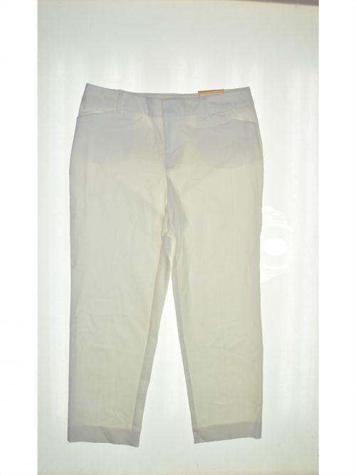 Charter Club Women Size 4 White Slim-Leg Pants