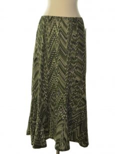 NY Collection Women Size XS Green Flounce Skirt