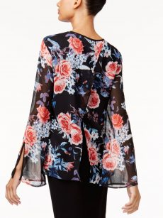 Love Scarlett Women Size Small S Black Blouse Top