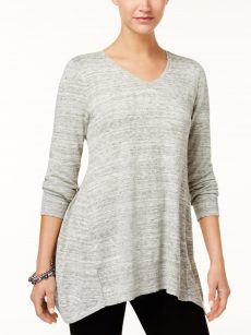 Style & Co. Women Size Medium M Grey Tunic Top