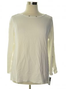 Alfani Women Size XL Off White Sweatshirt Sweater