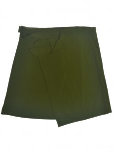 ECI Women Size Large L Green A-Line Skirt