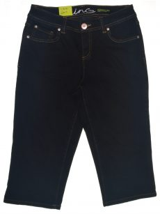 INC International Concepts Women Size 4 Dark Blue Cropped Jeans