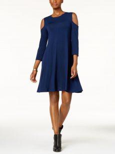 Style & Co. Women Size XXL Dark Teal A-Line Dress