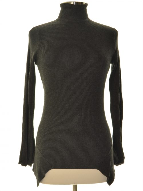 Central Park West Women Size XS Charcoal Sweatshirt Sweater