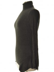 Central Park West Women Size XS Charcoal Sweatshirt Sweater