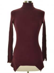 Central Park West Women Size XS Burgundy Sweatshirt Sweater
