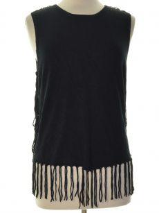 Central Park West Women Size Large L Black Pullover Top