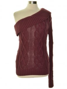 Endless Rose Women Size Medium M Wine Pullover Sweater