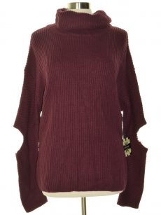 Cliche Women Size Large L Burgundy Pullover Sweater