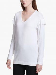 Calvin Klein Women Size Large L Off White Sweatshirt Sweater