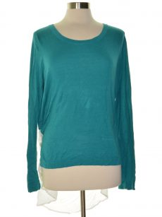 Evolution by Cyrus Women Size XL Turquoise Sweatshirt Sweater