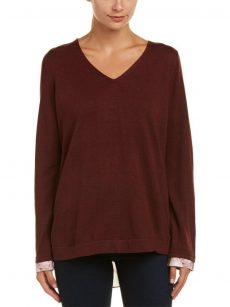 NYDJ Women Size Medium M Wine Sweatshirt Sweater