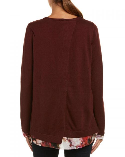 NYDJ Women Size Medium M Wine Sweatshirt Sweater