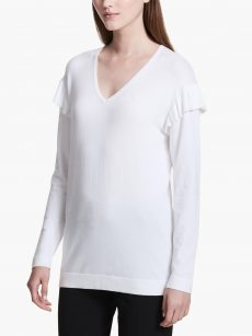 Calvin Klein Women Size Small S Off White Sweatshirt Sweater