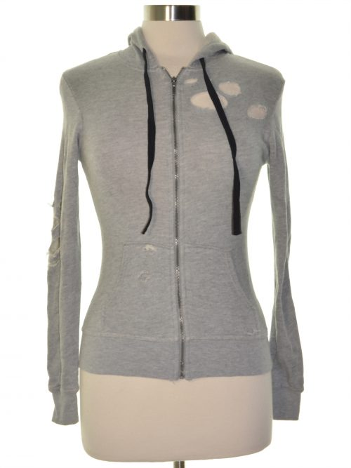 Material Girl Juniors Size XXS Grey Hooded Sweater