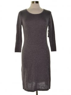 Nine West Women Size Small S Gray Sweaterdress Dress