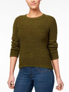 Style & Co. Women Size XL Moss Green Scoop Neck Sweater