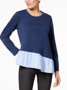 John Paul Richard Women Size Medium M Blue Sweatshirt Sweater
