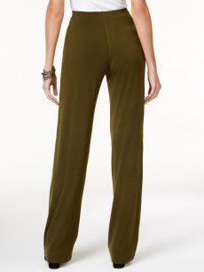 Alfani Petites Size PP Dark Green Wide Leg Pants