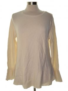 Style & Co. Petites Size PXL Ivory Pullover Sweater