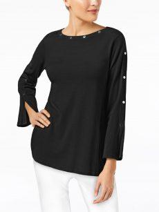 Alfani Petites Size PP Black Sweatshirt Sweater