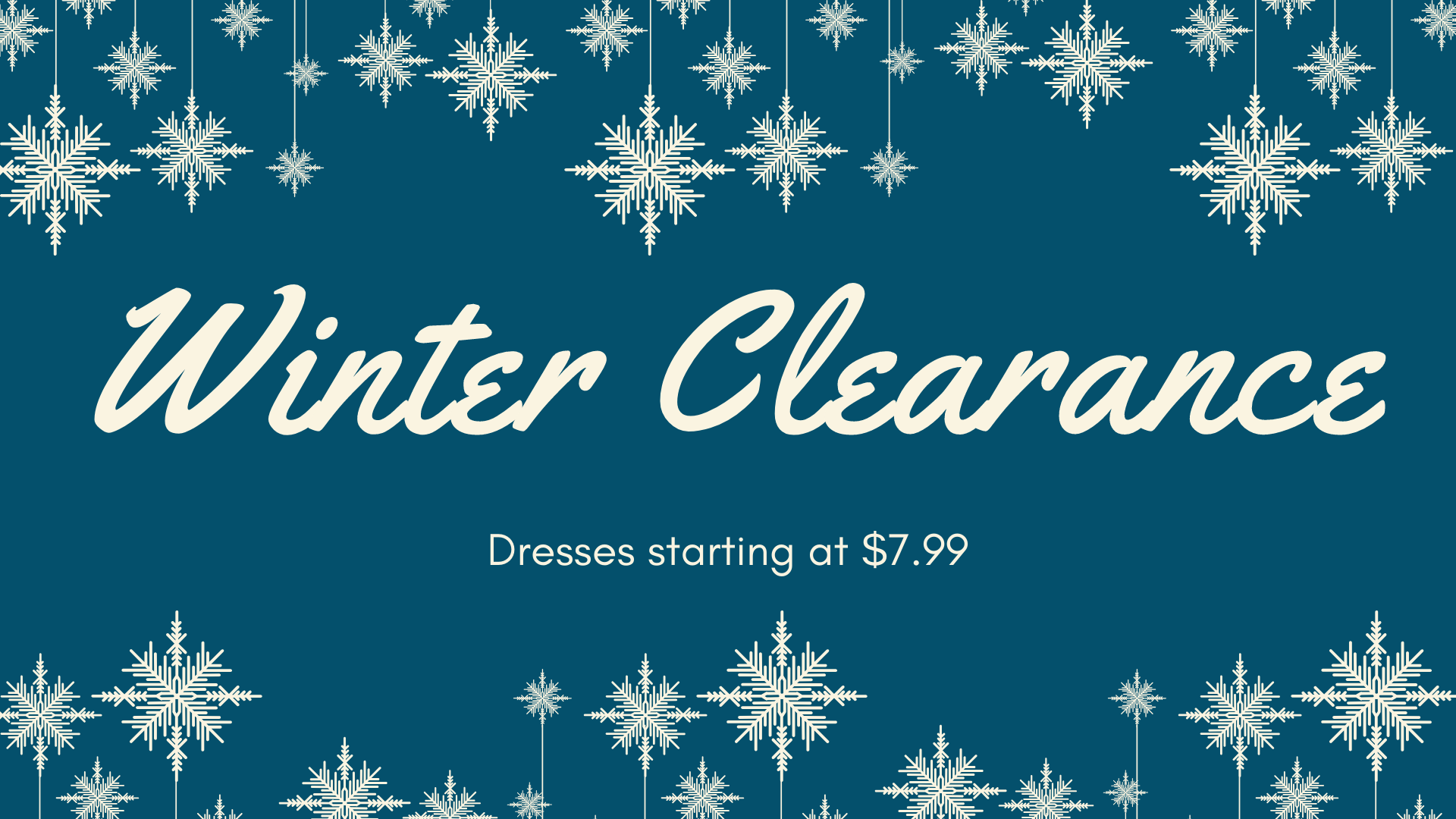 Winter Clearance - Canerra
