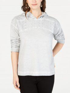 Style & Co. Women Size XS Dark Gray Casual Hoodie