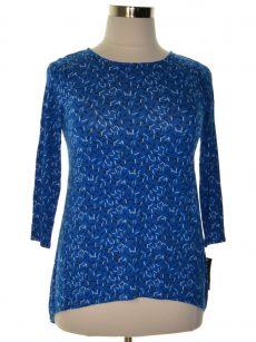 Alfani Women Size Small S Blue Pullover Top