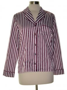 Alfani Women Size Small S White Purple Pajama Top