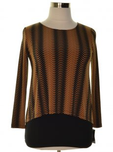 Alfani Women Size Small S Black Brown Blouse Top