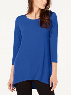 Alfani Women Size Small S Royal Blue Pullover Top