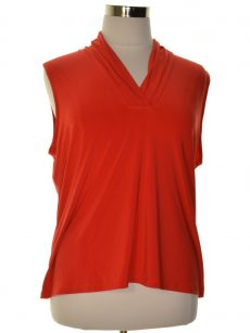 Anne Klein Women Size Small S Faded Orange Pullover Top