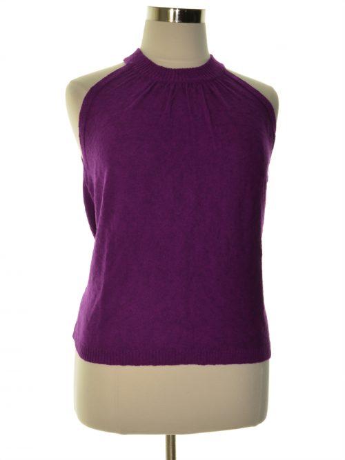 Vince Camuto Women Size Large L Purple Halter Top
