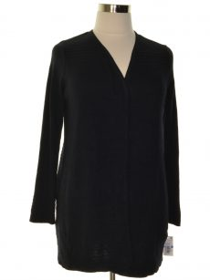 Charter Club Petites Size PXL Black Cardigan Sweater