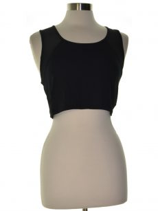 Material Girl Women Size XL Black Cropped Top
