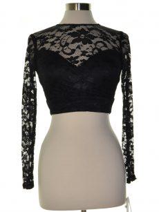 B. Darlin Women Size 1/2 Black Pullover Top