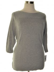 Karen Scott Plus Size 0X Grey Pullover Sweater