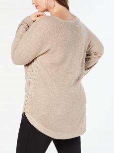 INC Plus Size 1X Beige Pullover Sweater