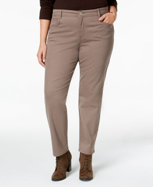 Style & Co. Plus Size 24W Taupe Slim Leg Jeans